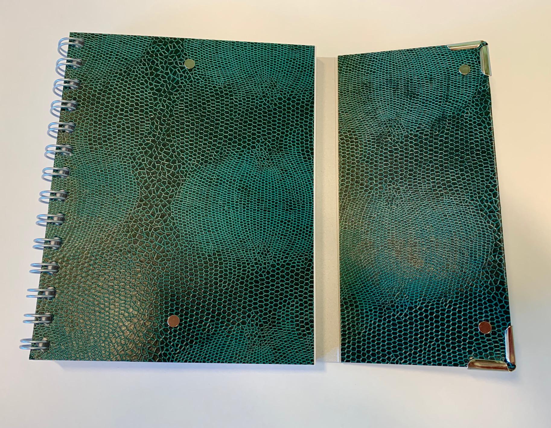Notizbuch im Handtaschendesign blau