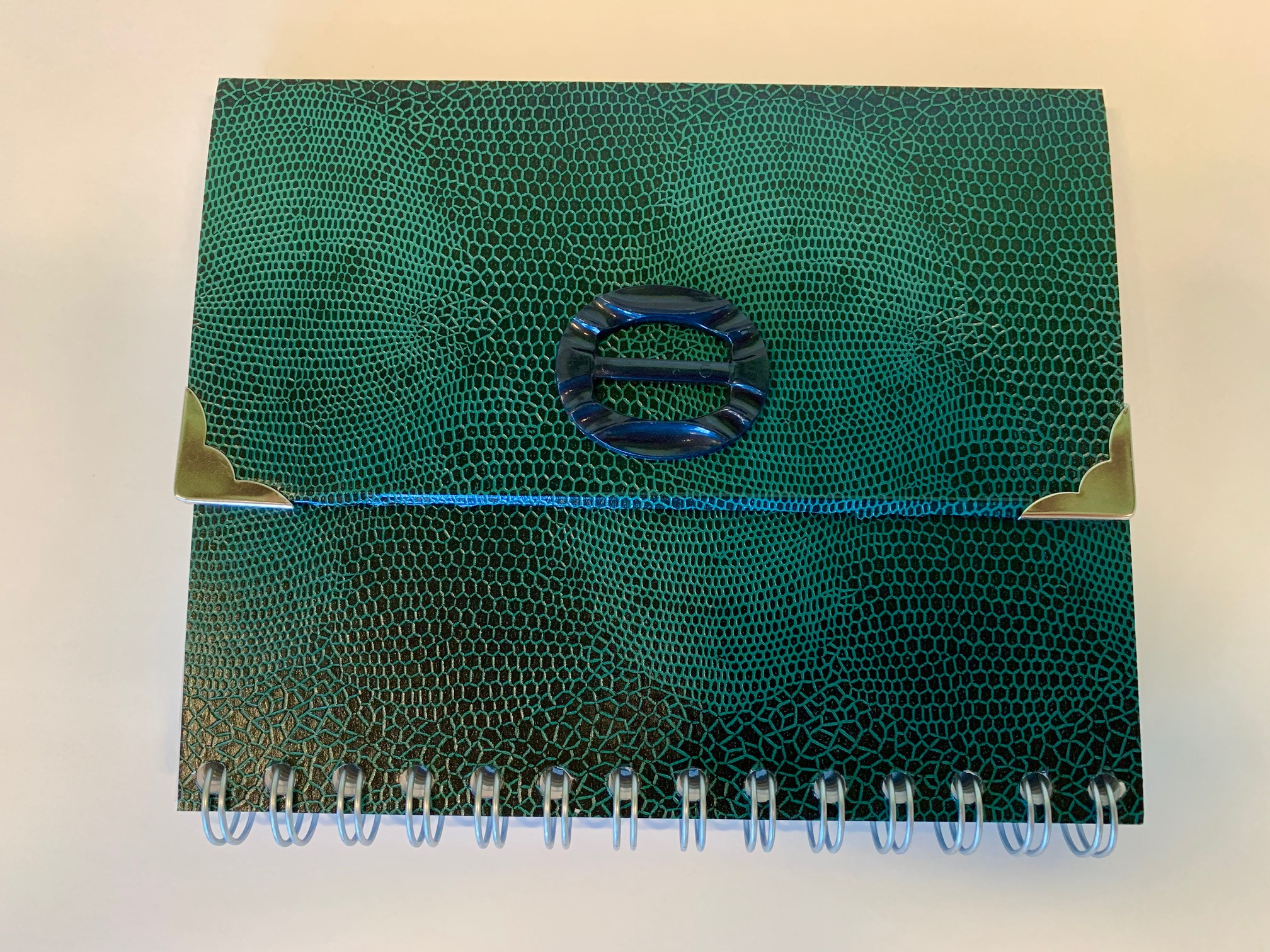 Notizbuch im Handtaschendesign grün